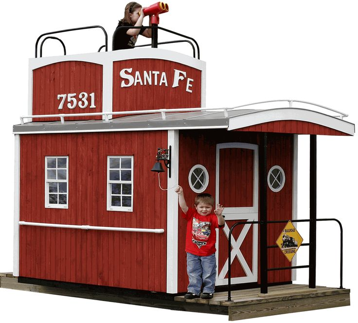 Caboose Train Wooden Playhouse
