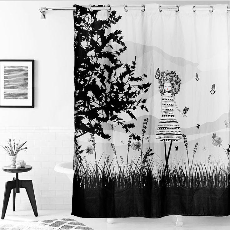 1000 ideas sobre cortinas de ba o en pinterest estantes for Cortinas en blanco