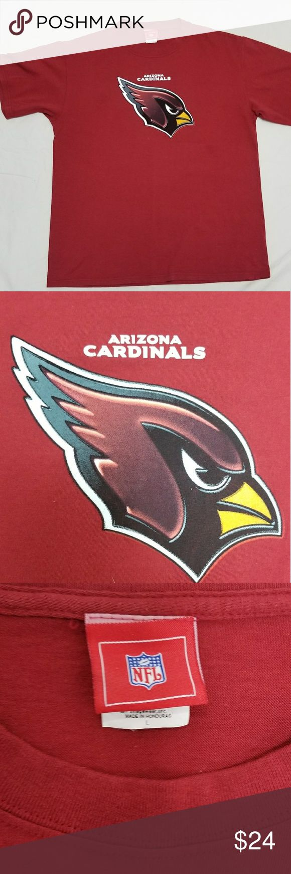 Authentic NFL Arizona Cardinals T-shirt SZ L 100% cotton......Great for wear to a game or to support your team anywhere. Shirts Tees - Short Sleeve