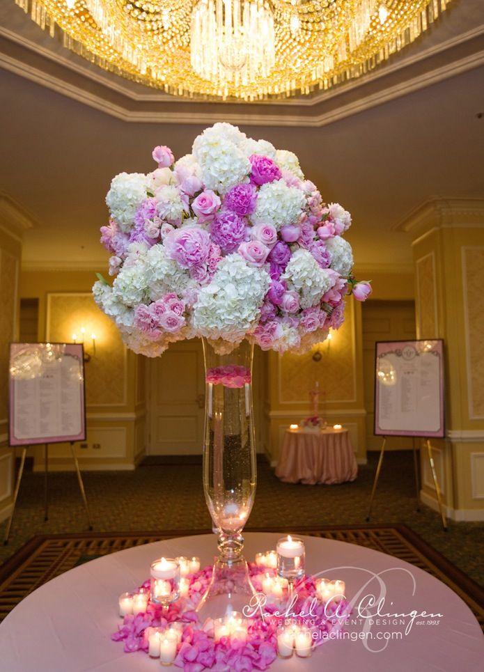 Pink wedding centerpiece idea; Featured: Rachel A Clingen; Dave and Charlotte Photography