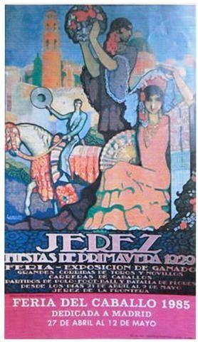 Cartel anunciador de la Feria de Jerez de la Frontera de 1985