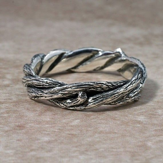 TWISTED TWIGS Wedding Band  This ring made in either by BandScapes, $635.00