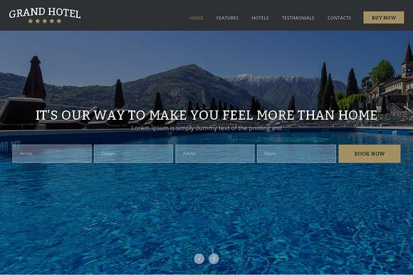 Check out Grand Hotel One Page Theme by IceTemplates on Creative Market