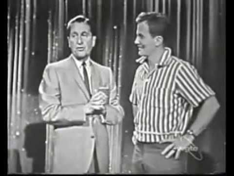 "Pat Boone singing ""Moody River"" on the Lawrence Welk Show"