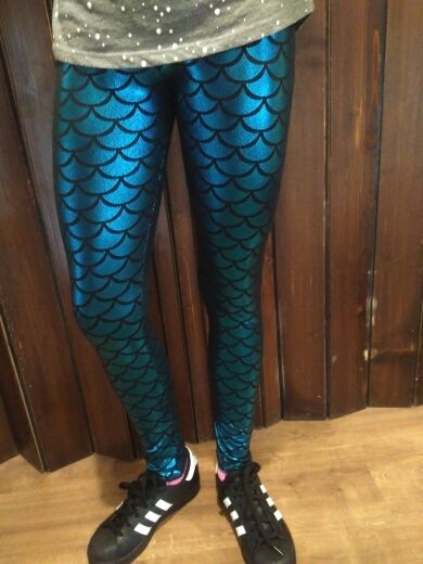 ff9de35de553a Mermaid Colorful Leggings mermaid leggings