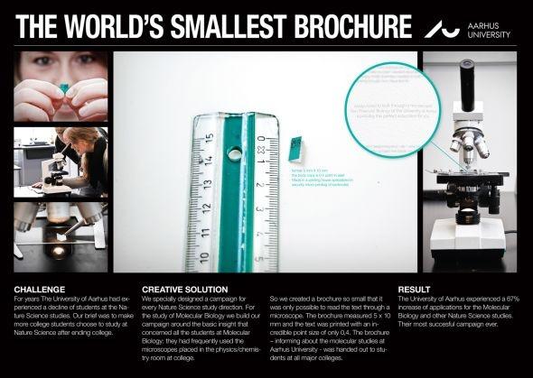 University of Aarhus: The world's smallest brochure
