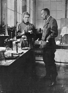 Marie and Pierre Curie worked side by side in the research of radioactivity.