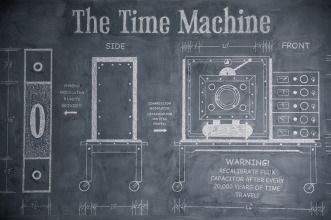 I like to work with a large chalk board when designing and building something as crazy as a time machine!