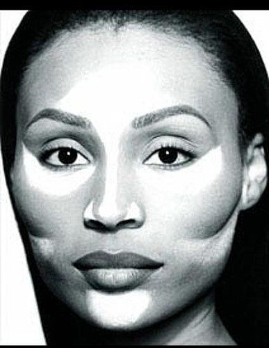 Face countouring for African-American skin tones.