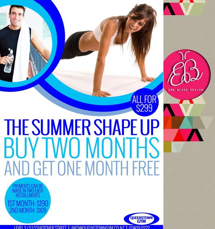 Summer Shape Up | Queenstown Gym | Magazine Advert | Queenstown | New Zealand