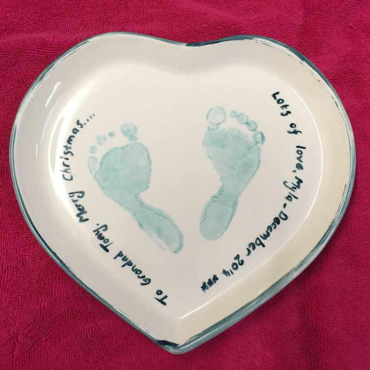 Baby Footprints painted at The Crafty Cafe