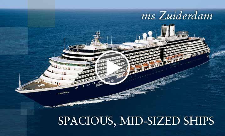 Cruises on ms Zuiderdam, a Holland America Line cruise ship Panama Canal Cruise
