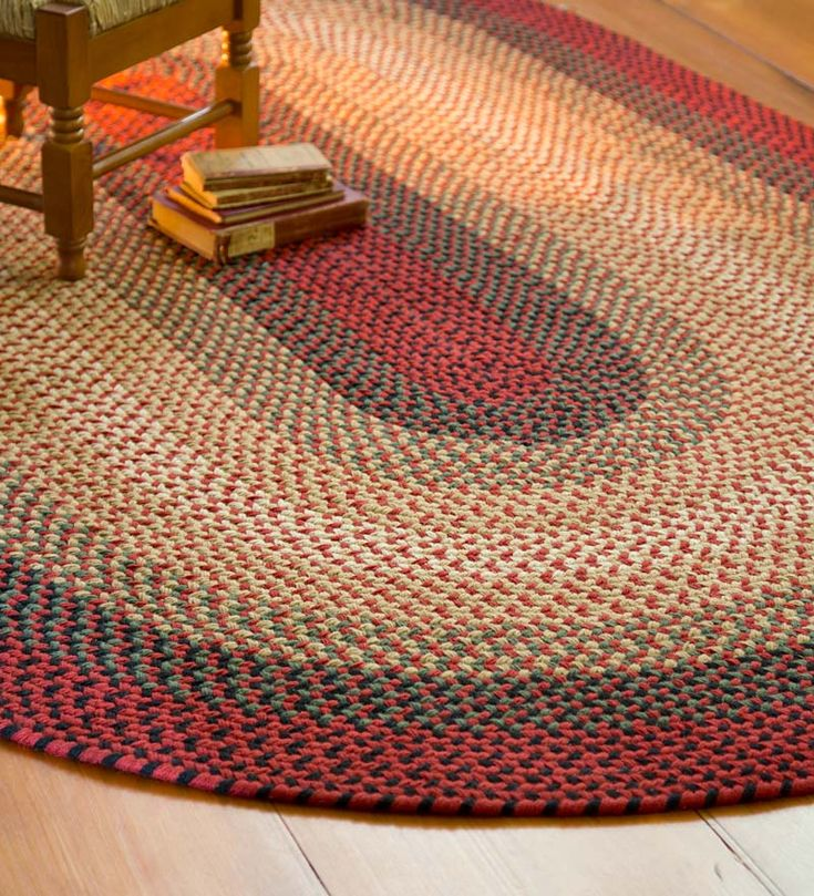 USA-Made Wool Virginia Braided Rug - durable, gorgeous, classic. Perfect in any room.