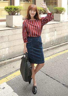 Today's Hot Pick :[Romi]ハイウエストデニムタイトミディスカート http://fashionstylep.com/SFSELFAA0015390/romi00ajp/out 濃い目の色加減がおしゃれなデニムスカートです。 今年人気のIラインシルエットにし、トレンド感満載です。 ハイウエスト仕様で、脚長効果はもちろん、くびれのあるシルエットを演出。 カジュアルシャツやキレイめジャケット合わせなど、幅広くおしゃれを楽しめます。 ◆1色: ブルー