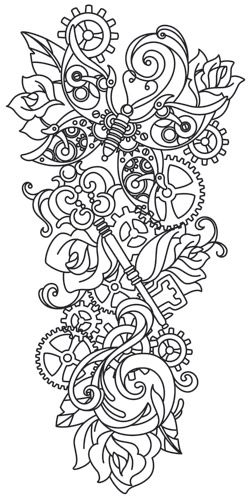 Steampunk Sleeve | Urban Threads: Unique and Awesome Embroidery Designs