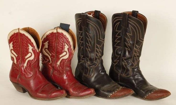 2 Pairs of Ladies Cowboy Boots.