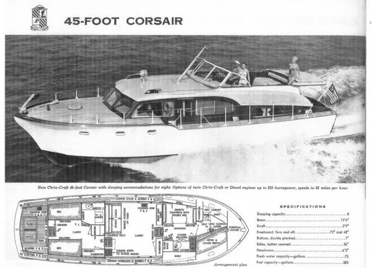 1958 46 Chris Craft Constellation Floor Plan 1968 Chris