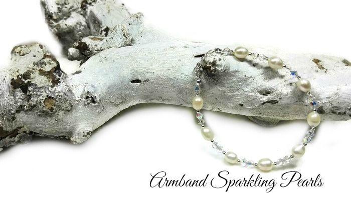 Armband Sparkling Pearls | Exclusieve Edelsteen Armbanden | Beads Creations Kralen en Sieraden Maken