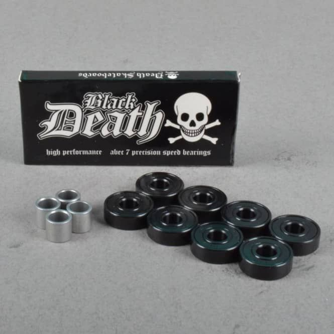Death Skateboards Death Black Death Abec 7 Skateboard Bearings - SKATEBOARDS from Native Skate Store UK
