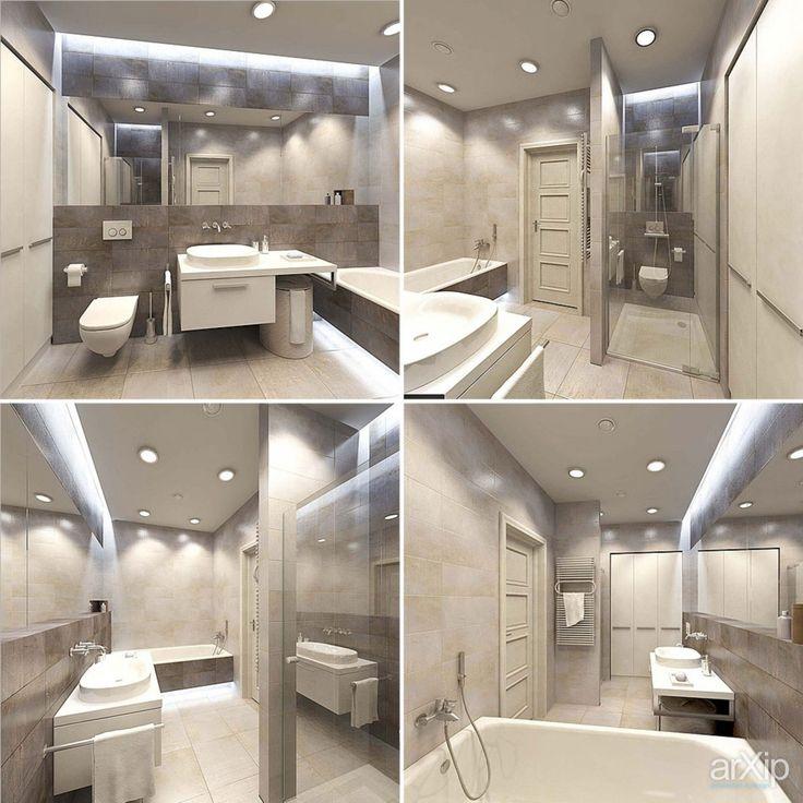 Ванная комната: интерьер, квартира, дом, санузел, ванная, туалет, современный, модернизм, 10 - 20 м2 #interiordesign #apartment #house #wc #bathroom #toilet #modern #10_20m2 arXip.com