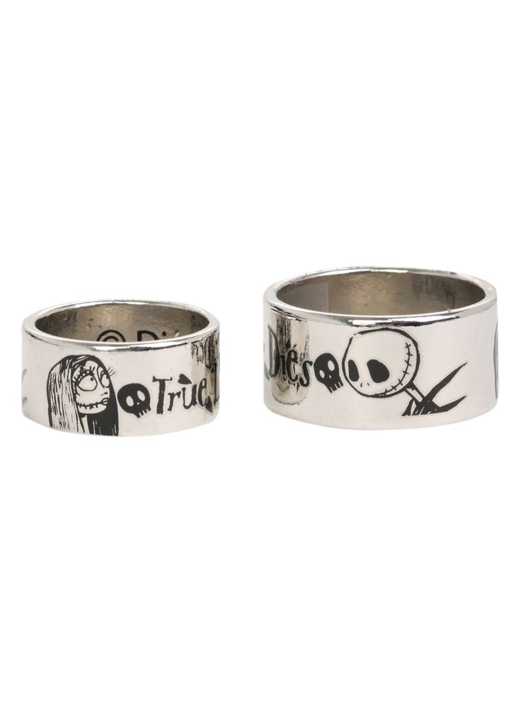 The Nightmare Before Christmas True Love Never Dies Ring Set   Hot Topic