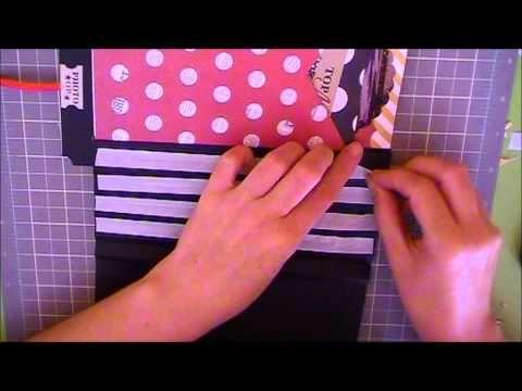▶ Como hacer una encuadernación acordeón con cintas vistas, parte I - YouTube