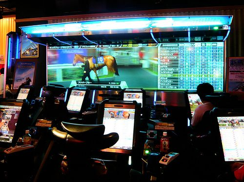 Virtual horse races - Inside Taito Station by Stéfan, via Flickr