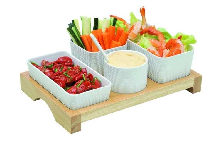 Salad tray set