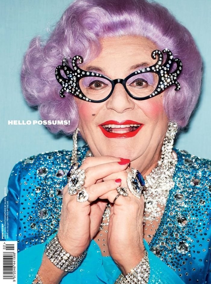 hullo possums! LOVE Dame Edna! (from stylebubble)