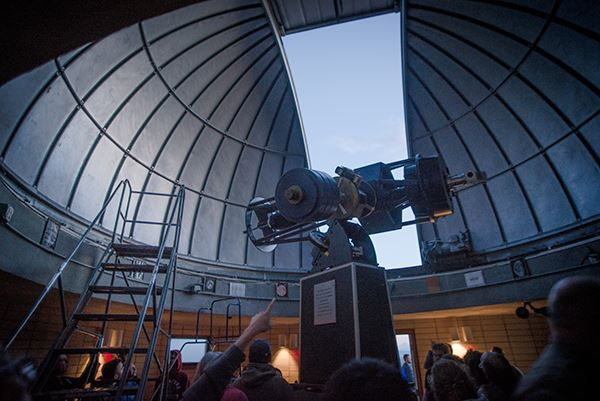 Goldendale Observatory interior telescope | camping