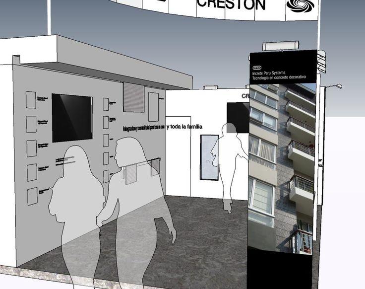 Diseño final, eso espero, del stand de Increte Peru y Crestron con algunas modificaciones mas sustanciales.