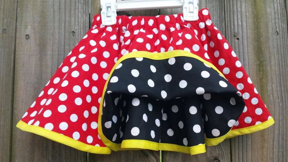 Girls Twirling Skirt Minnie Mouse Skirt Fully by LaliLaneDesigns