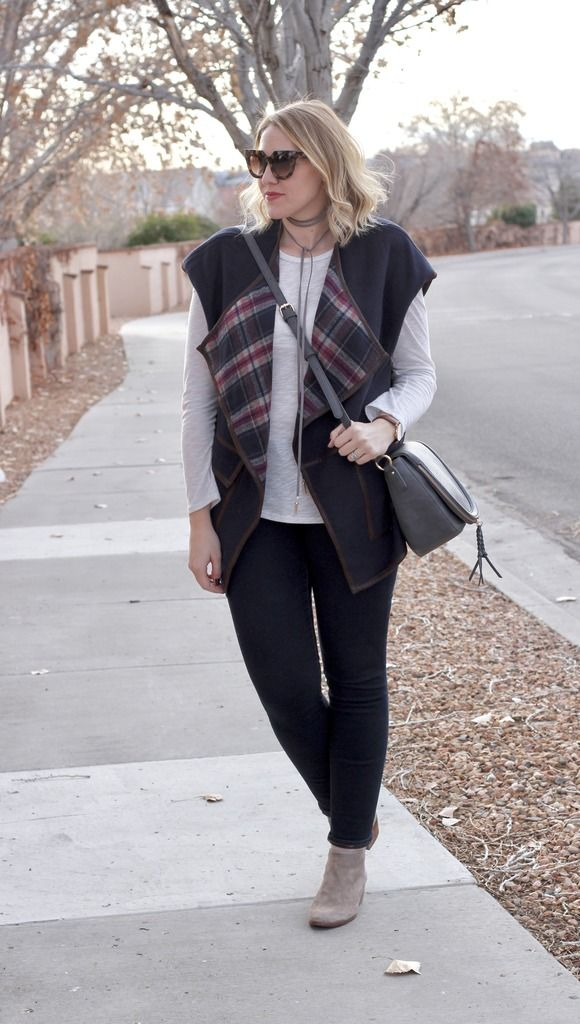 Plaid Blanket Vest & The Weekly Style Edit Link Up | Middle of