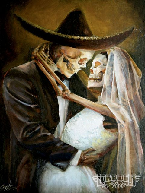 Day Of The Dead Art Skeletons Getting Married Photo 15
