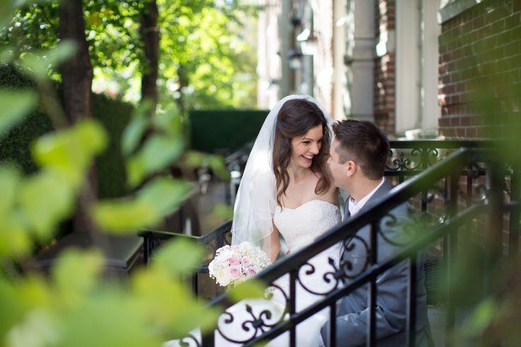 Toronto Windsor Arms Hotel wedding couple