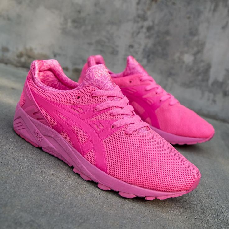 bright coloured asics trainers