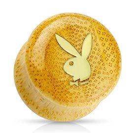 Plug do ucha - Playboy PTP00195 - je vyrobený z bambusové dřeva a ve skutečnosti je opravdu boží! :-) http://www.piercingate.cz/plug-do-ucha-playboy-ptp00195