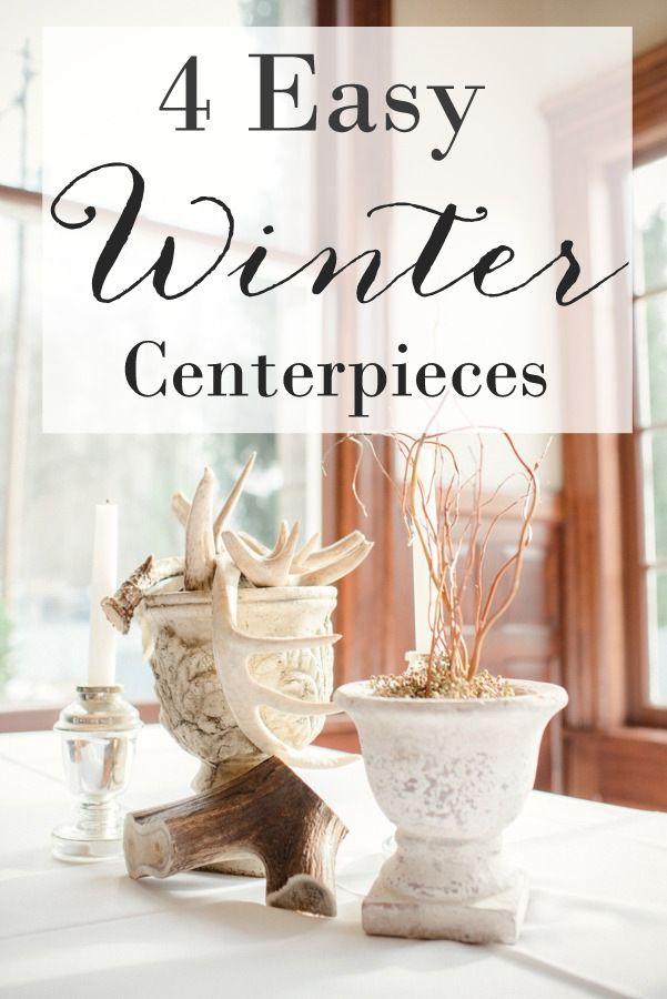 Best ideas about winter centerpieces on pinterest
