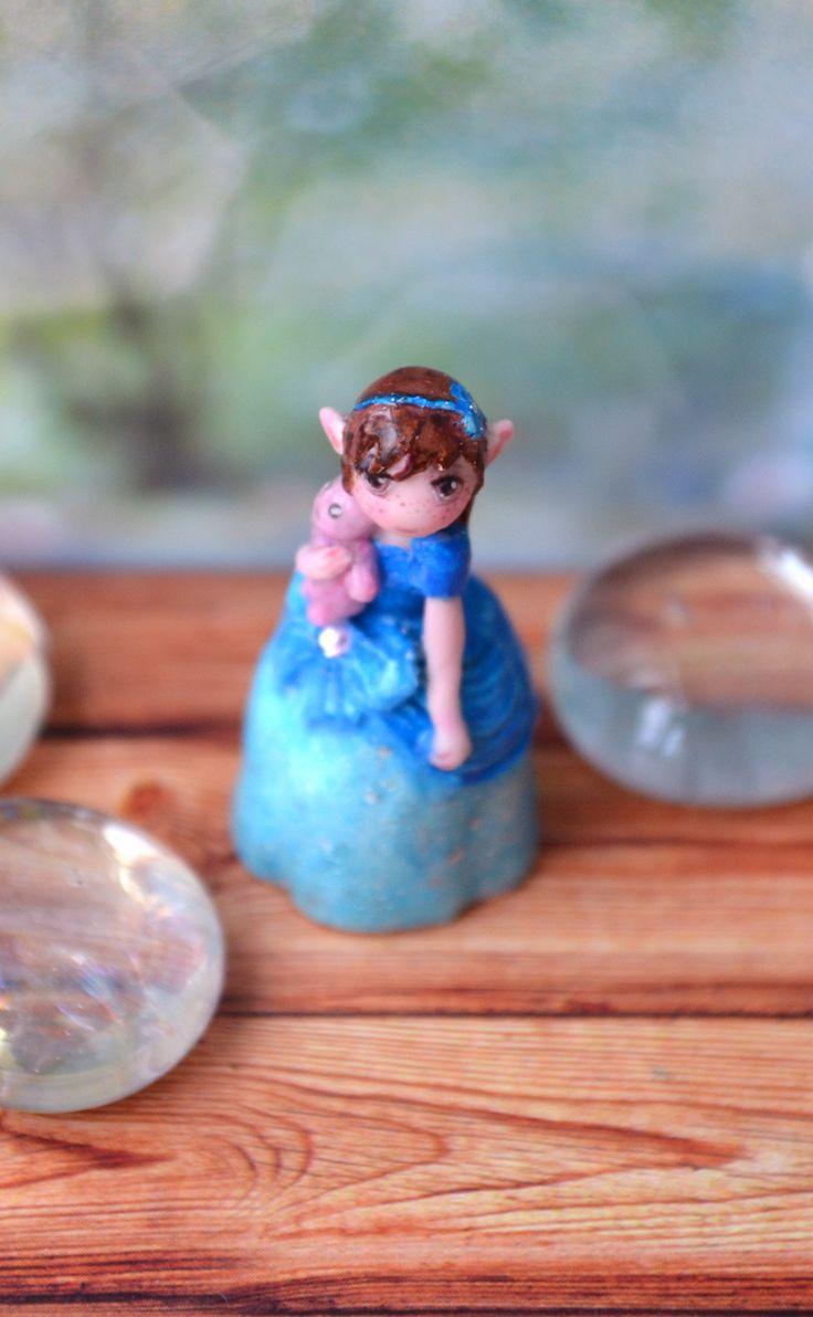 """Miniature """"Girl with a Teddy Bear"""""""