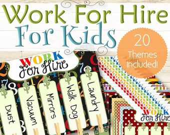 20 Chore & Schedule Charts for Kids  INSTANT DOWNLOAD