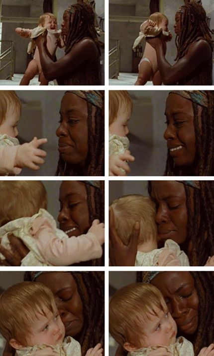 This was beyond upsetting.... Michonne ~ I can't wait to learn about the story behind her reaction.