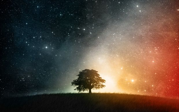 Colorful Night Sky HD Wallpaper