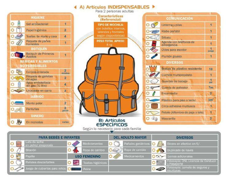 Artículos Mochila Supervivencia http://www.scribd.com/doc/50719888/Combo-Supervivencia-Para-emergencias-INDECI