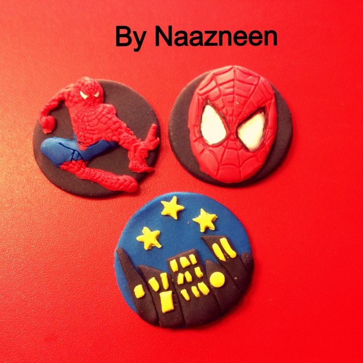 Spider-Man cupcake toppers by Naazneen