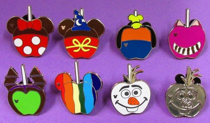 Disney Trading Pins Mixed Lot - Hidden Mickey HM Candy Apples & Chaser MMT#166