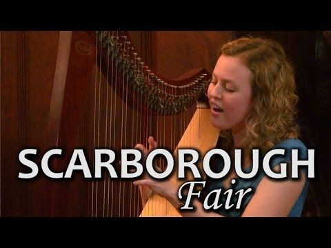 SCARBOROUGH FAIR: Celtic Harpist - Christy-Lyn from Cape Town, South Africa.