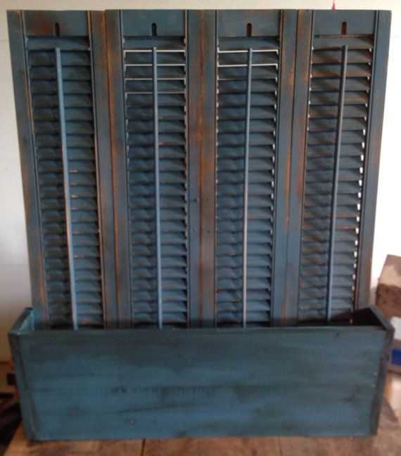 17 best images about repurposed shutters on pinterest for Window shutter crafts