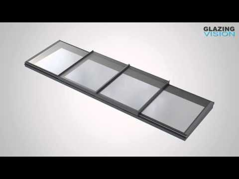 Bi parting sliding over fixed rooflight above swimming pool - YouTube