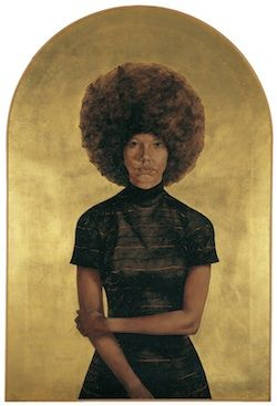 Witness exhibit at The Blanton in Austin Texas February 2- May 10, 2015. Lawdy Mama, 1969 by Barkley Hendricks, Courtesy of the Brooklyn Museum.