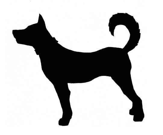 dog silhouette - Google Search